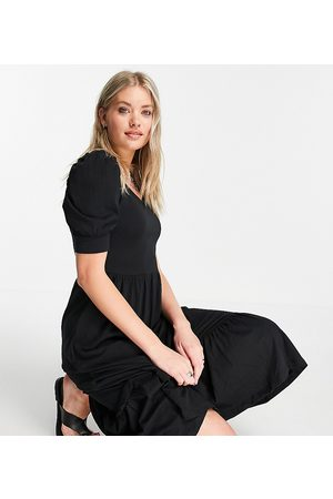 Only Tall Women Casual Dresses - Tea dress with puff sleeve in