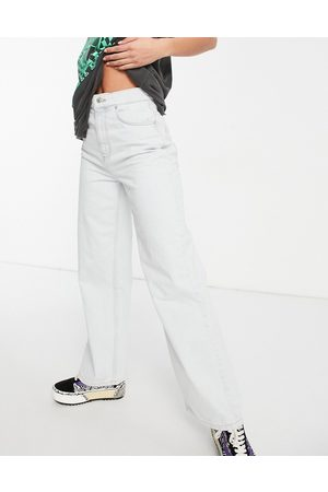 ASOS Organic cotton blend high rise 'relaxed' dad jeans in antique white