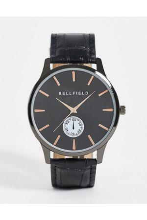 Bellfield Men Watches - Mens black watch and dial