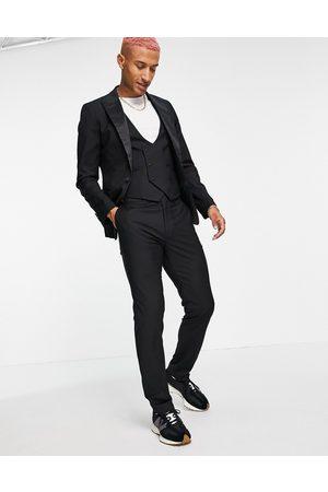 Devils Advocate Men Skinny Pants - Skinny fit tuxedo suit trousers