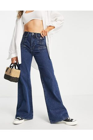 French Connection Women Bootcut & Flares - 70's flared jean in mid wash