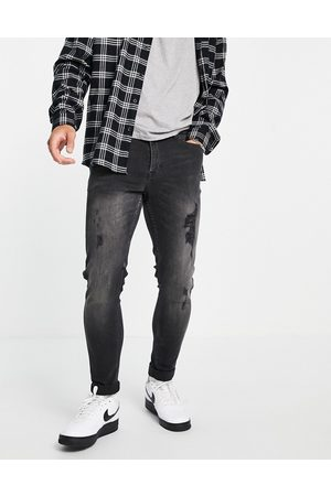 New Look Men Skinny - Skinny jeans with rips in washed