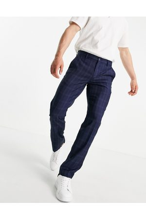 French Connection Men Chinos - Slim fit mini check trousers