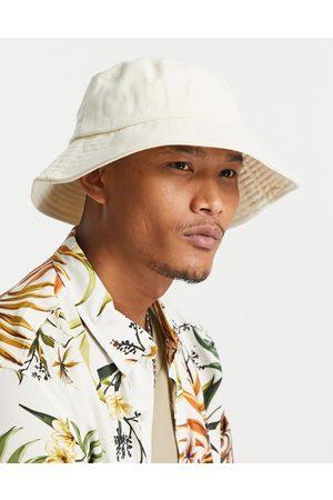 ASOS Wide brim bucket hat in off white