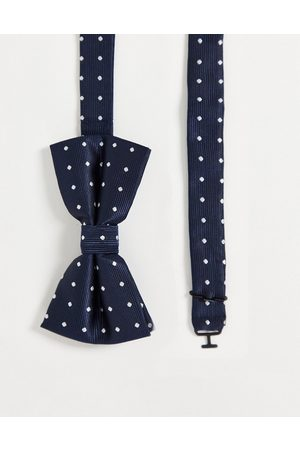 French Connection Men Bow Ties - Dotted bow tie-Navy