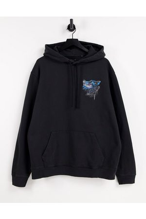 AllSaints Ghasher overhead hoodie with graphic print in