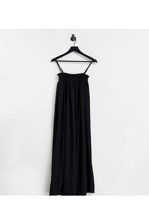 ASOS Tall Women Casual Dresses - ASOS DESIGN Tall elasticated bodice textured slip maxi swing dress in