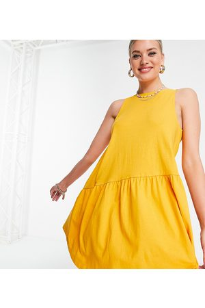 ASOS Tall sleeveless smock dress with v back in