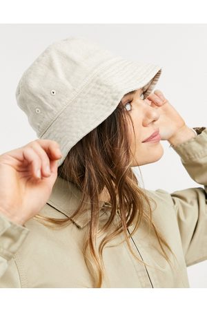 Weekday Berg organic blend cotton and linen bucket hat in -Neutral