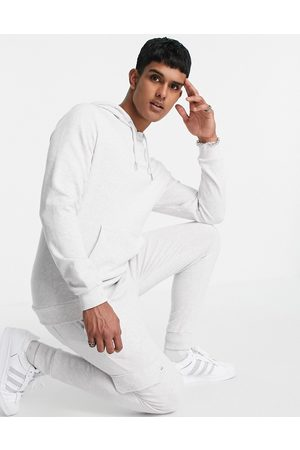 ASOS DESIGN Men Sports Sweatshirts - Tracksuit with hoodie & cargo skinny jogger in marl