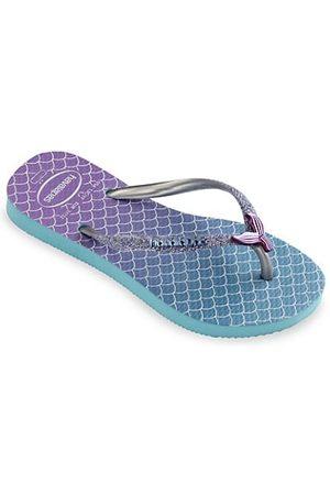 Havaianas Girls Flip Flops - Little Girl's & Girl's Mermaid Glitter Flip Flops