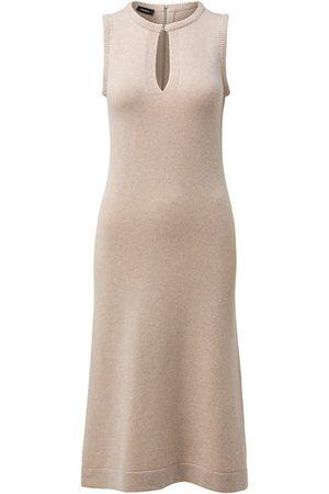 Akris Keyhole Cashmere Midi Dress
