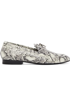 Givenchy Black & White Python G Chain Loafers