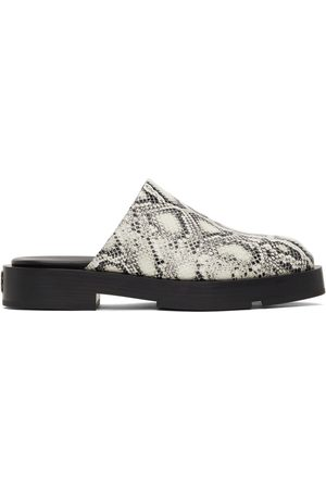 Givenchy Black Python Open Loafers