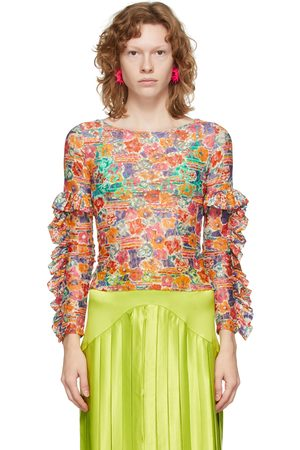Collina Strada Multicolor 'Collina Land' Ruffle Lace Shirt
