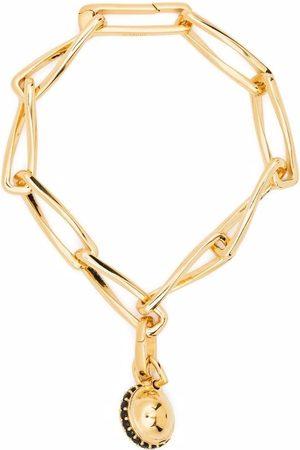 Missoma Women Bracelets - Twisted Link chain pavé sphere bracelet