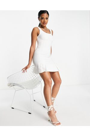 ASOS DESIGN Pleat hem mini dress in