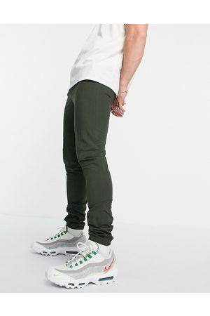 ASOS DESIGN Smart skinny trousers with jogger cuff in seersucker