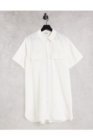Envii Women Casual Dresses - Wheat mini shirt dress in