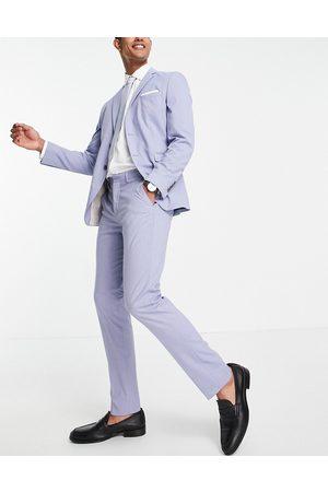 Selected Homme Men Skinny Pants - Slim fit suit trousers in light blue