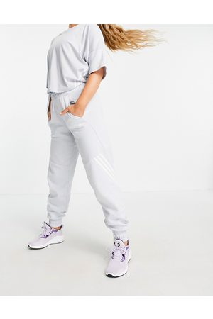 adidas performance Adidas Training 3 stripe oversized joggers in baby