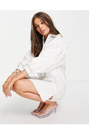 In The Style X Lorna Luxe volume sleeve shirt dress in