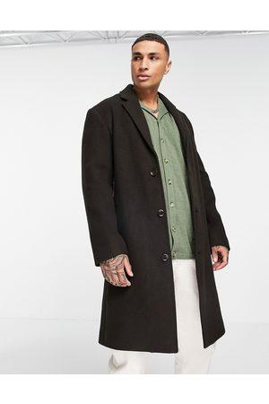 ASOS DESIGN Men Coats - Relaxed fit longline wool mix overcoat in