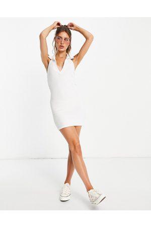 ASOS DESIGN Women Casual Dresses - Collared halter mini dress in towelling