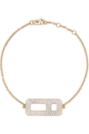 AS29 18kt yellow DNA pavé diamond chain bracelet