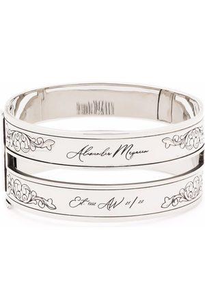 Alexander McQueen Etched-design cuff bracelet