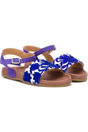 PèPè Embroidered floral sandals