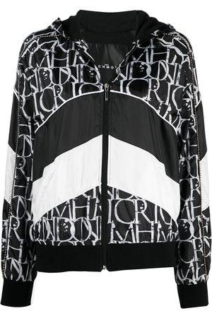 John Richmond Zip-front hooded sweatshirt