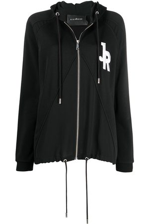 John Richmond Duella logo patch zipped hoodie