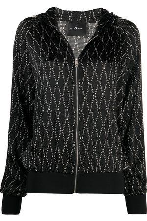John Richmond Zip-front silk sweatshirt