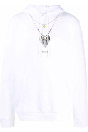 Marcelo Burlon County of Milan Men Hoodies - Necklace-print hoodie