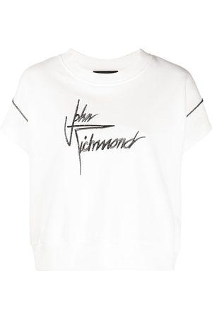 John Richmond Logo-embroidered sweatshirt