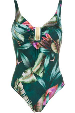 Lygia & Nanny Mirassol leaf-print swmsuit