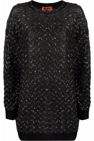Missoni Glittery chevron-pattern jumper