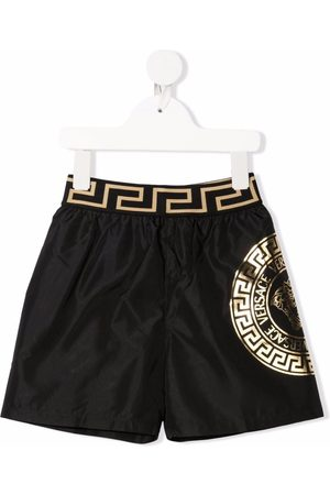 Versace Kids Medusa-print swim shorts
