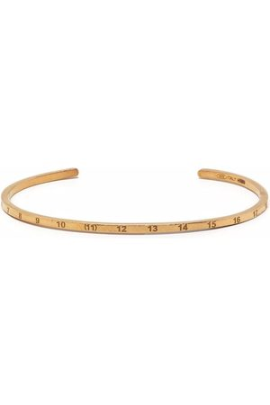 Maison Margiela Number-engraved cuff bracelet