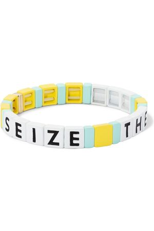 Roxanne Assoulin Women Bracelets - Seize The Day slogan-print bracelet