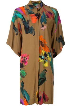 OSKLEN Chemise Splash Wood dress