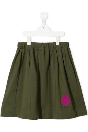 Marni Logo-print pleated skirt