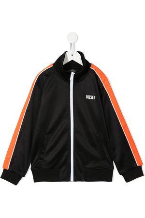 Diesel Logo-print zip-up track jacket