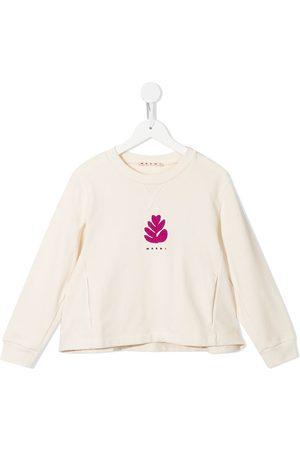 Marni Logo-print crew neck sweatshirt