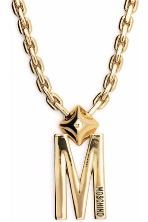 Moschino Rolo chain logo-charm necklace