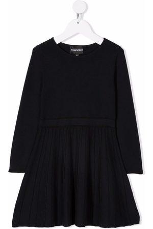 Emporio Armani Kids Long-sleeve ruffle dress
