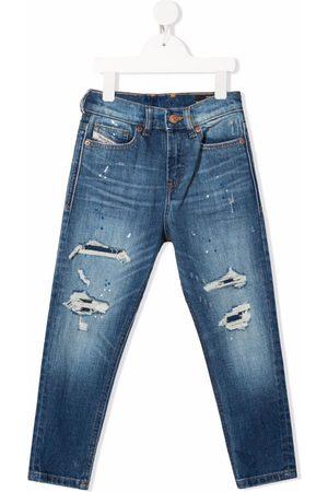 Diesel Kids Distressed slim-fit jeans