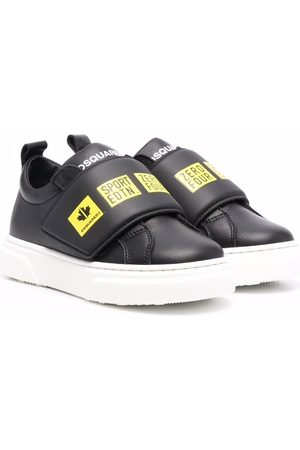 Dsquared2 Kids Graphic-print leather-strap trainers
