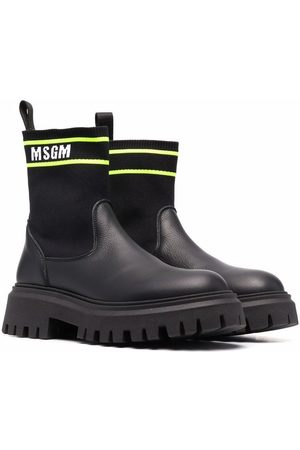 MSGM Kids TEEN sock-style ankle boots